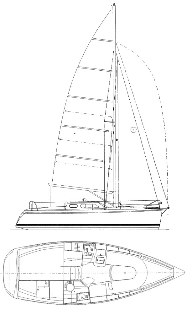 Etap 26I drawing on sailboatdata.com