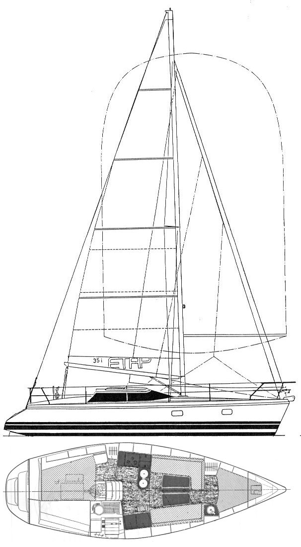 Etap 35i drawing on sailboatdata.com