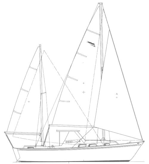 Etendard Drawing on sailboatdata.com