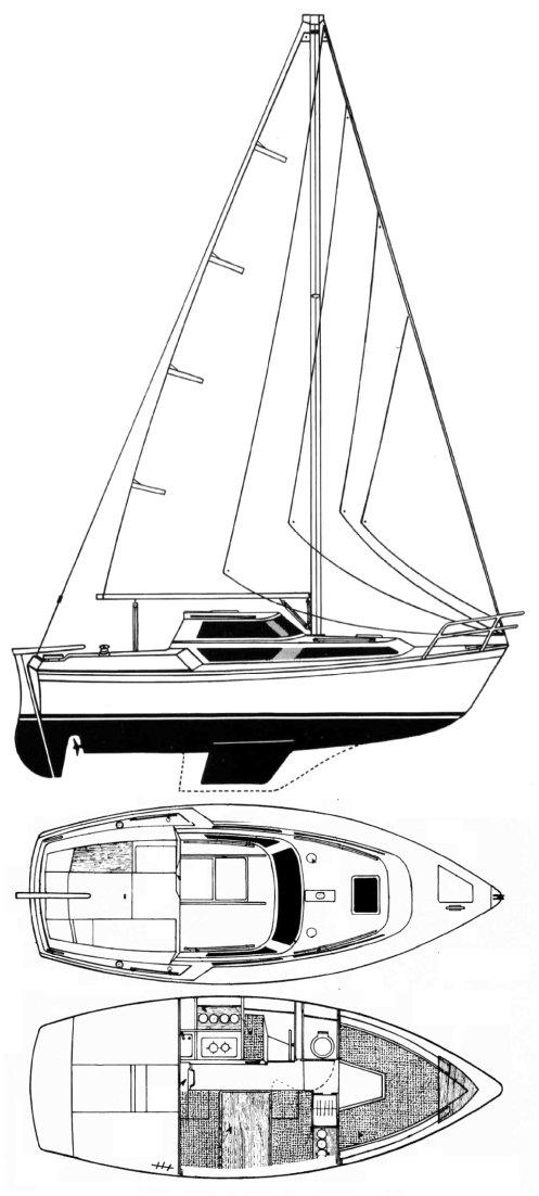 EVASION 22 (BENETEAU) drawing