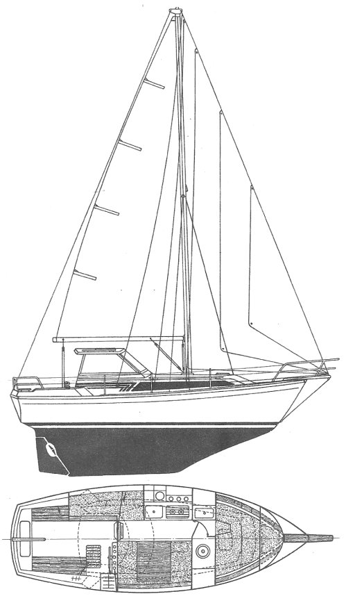 EVASION 25 (BENETEAU) drawing