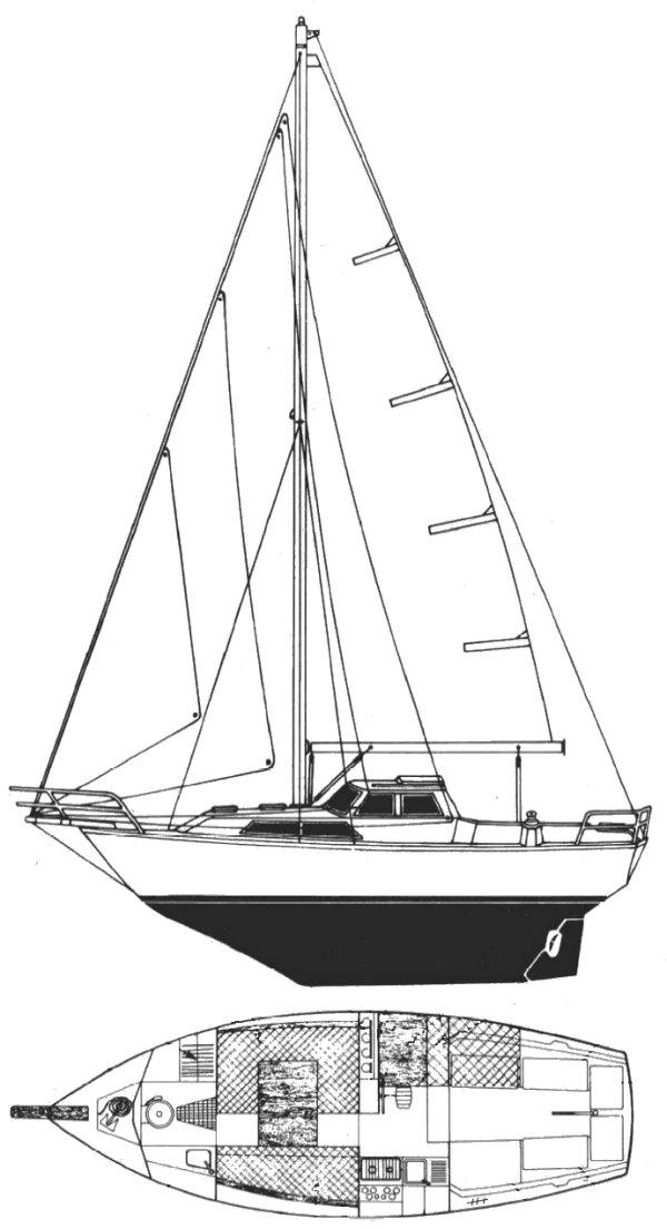 EVASION 28 (BENETEAU) drawing