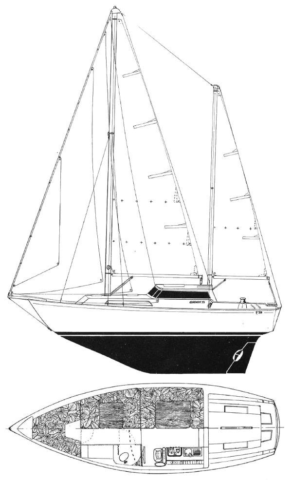 EVASION 32 (BENETEAU) drawing