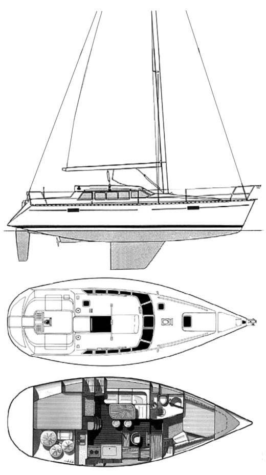 EVASION 36 (BENETEAU) drawing