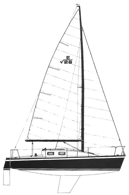 Evelyn 26 OD drawing on sailboatdata.com