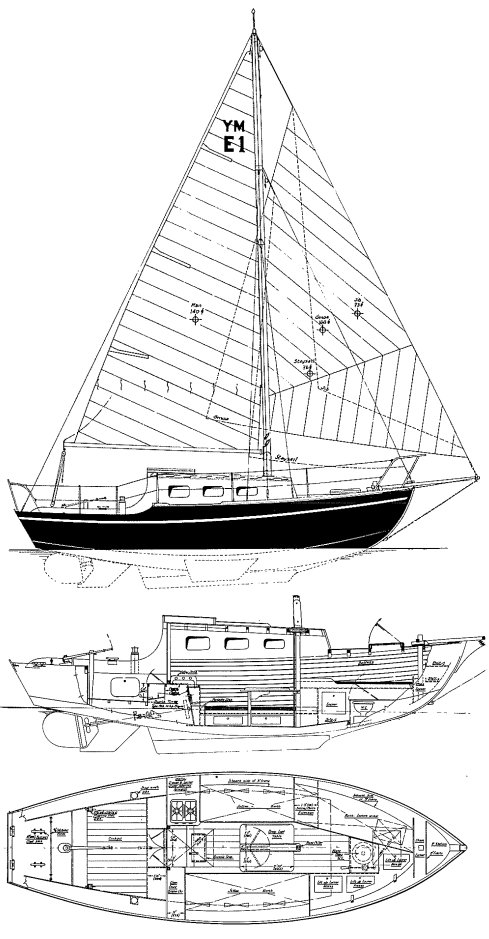 Eventide 24 drawing on sailboatdata.com