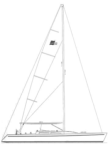 Excel 53 drawing on sailboatdata.com