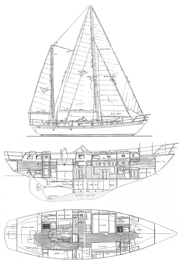 EXPLORER 45 (HUNTINGFORD) drawing