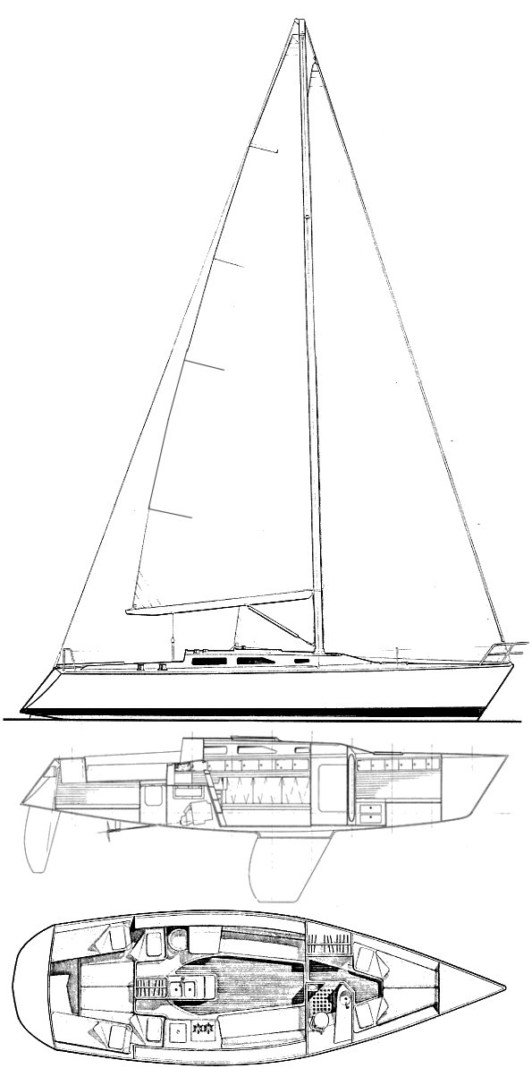 Sailboatdata Com Express 37 Sailboat