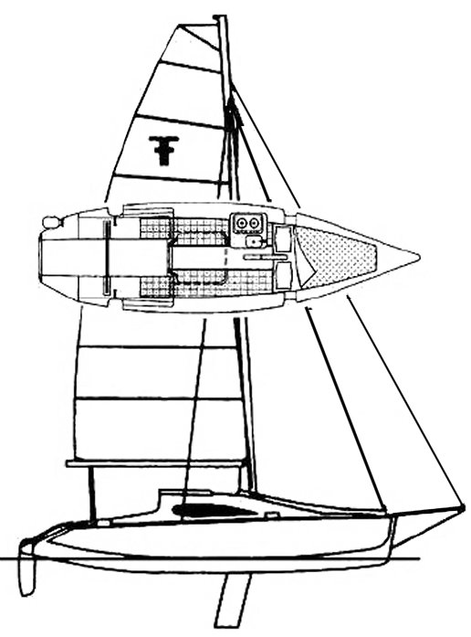 F-24 Sport Cruiser MKII drawing on sailboatdata.com