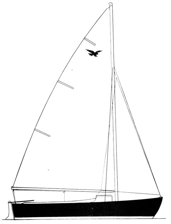 Falcon 16 drawing on sailboatdata.com