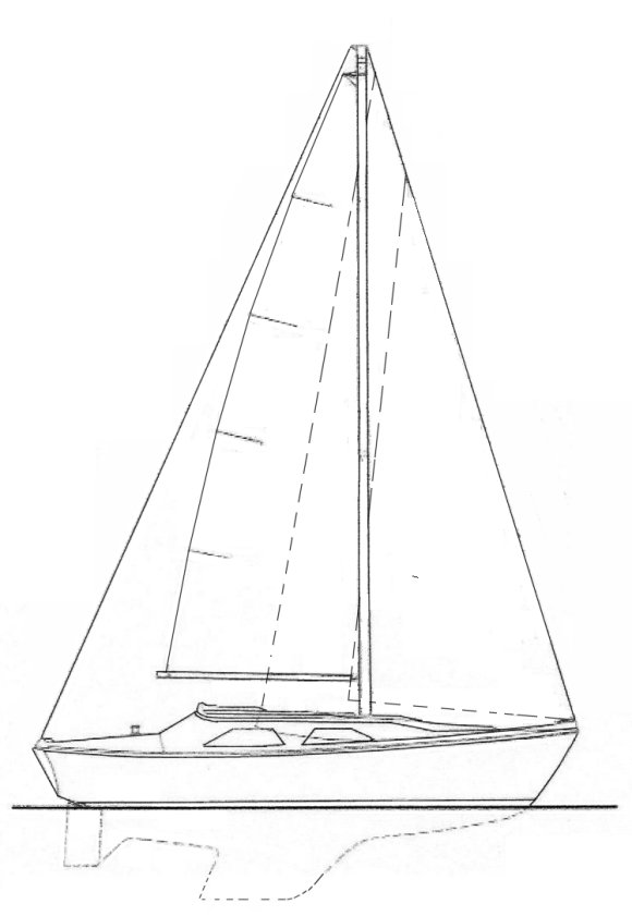 Falcon 24 (S&S) drawing on sailboatdata.com