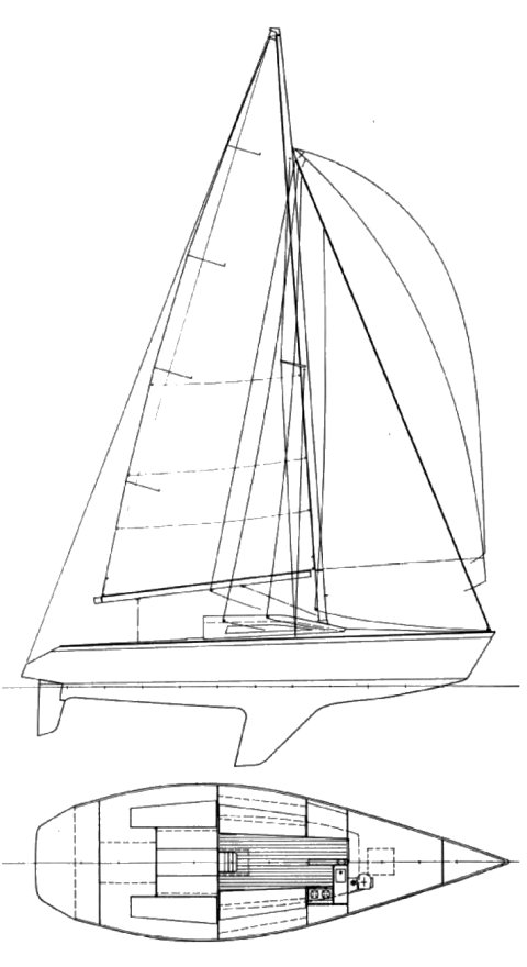 Farr 1104 drawing on sailboatdata.com