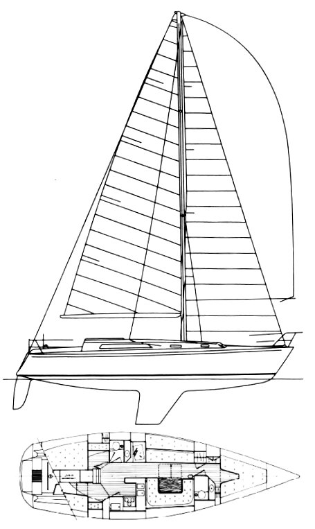 Farr 1220 drawing on sailboatdata.com
