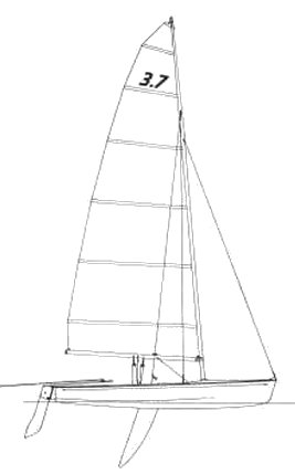 Farr 3.7 drawing on sailboatdata.com