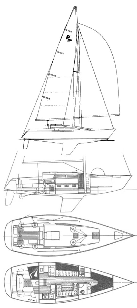 Farr 38 (#189) drawing on sailboatdata.com