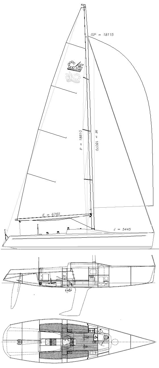 Corel 45 drawing on sailboatdata.com