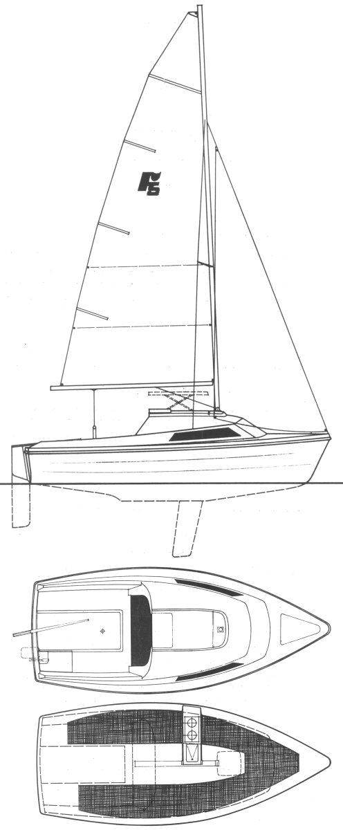 Farr 5000 drawing on sailboatdata.com
