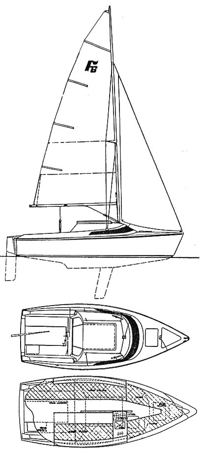 Farr 6000 drawing on sailboatdata.com