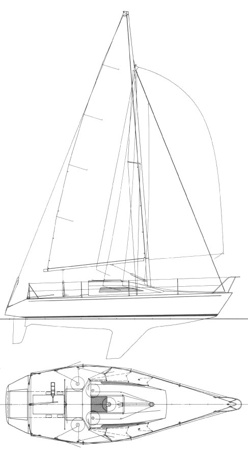 Farr 920 drawing on sailboatdata.com