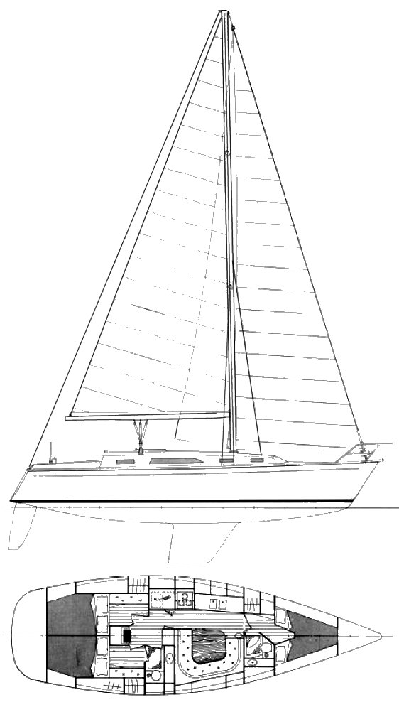 Farr Phase 4 drawing on sailboatdata.com