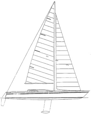 Fast 40 drawing on sailboatdata.com