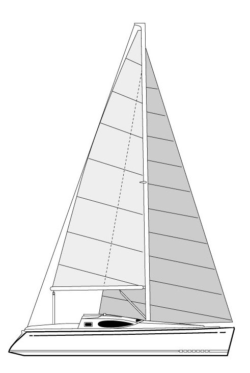 Feeling 30 drawing on sailboatdata.com