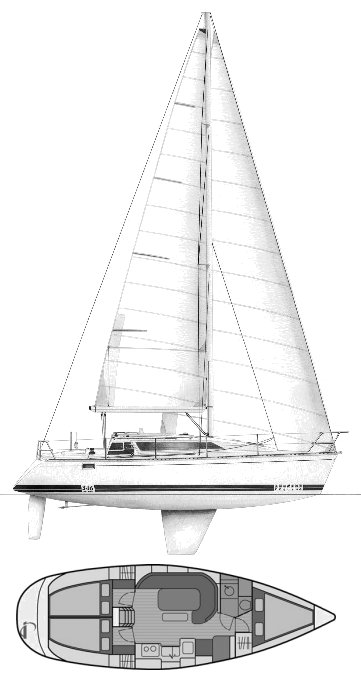 Feeling 346 drawing on sailboatdata.com