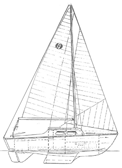 Felicity 20 drawing on sailboatdata.com