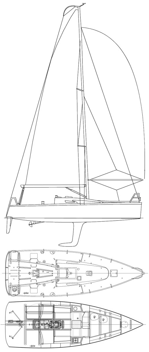 FIGARO II (BENETEAU) drawing