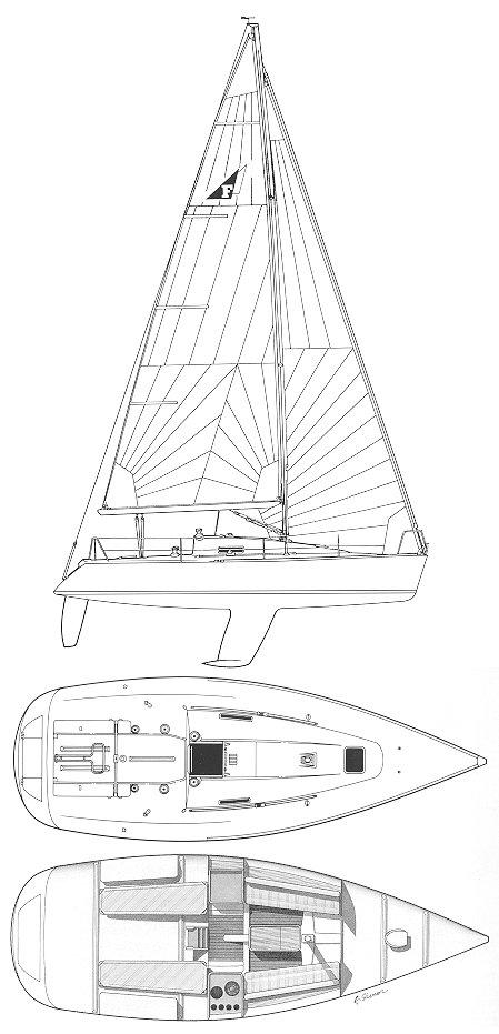 FIGARO SOLO (BENETEAU) drawing