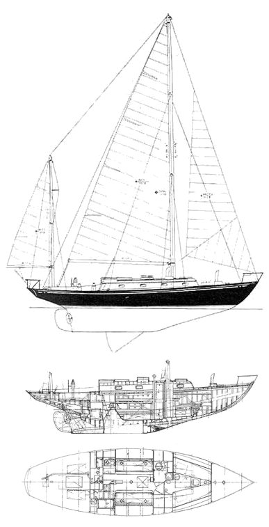 Finisterre drawing on sailboatdata.com