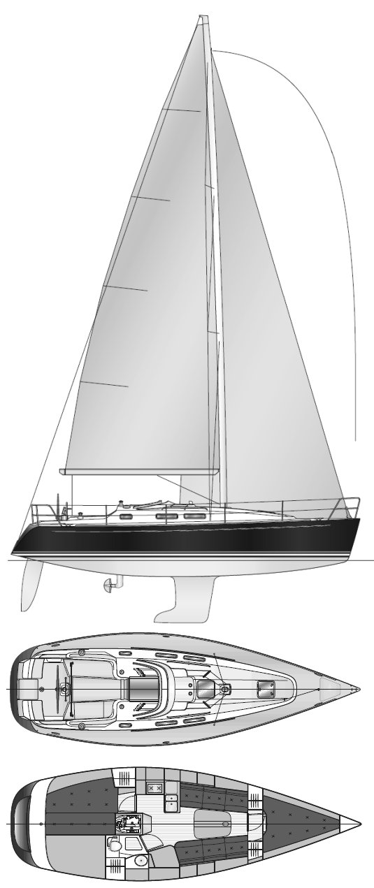 Finngulf 31 drawing on sailboatdata.com