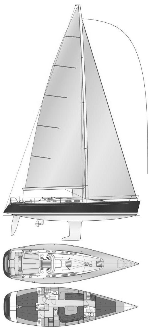 Fingulf 46 drawing on sailboatdata.com