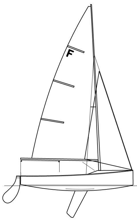 Firefly Dinghy drawing on sailboatdata.com