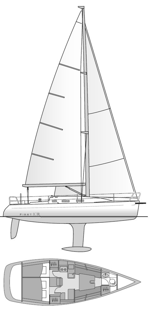 FIRST 10R (BENETEAU) drawing