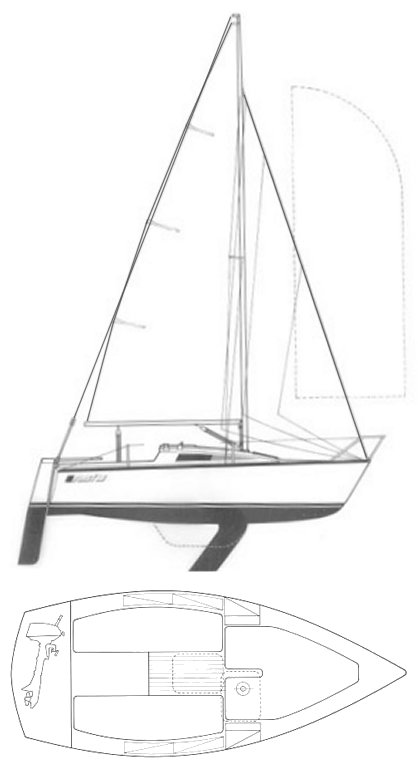 First 18 (Beneteau) drawing on sailboatdata.com