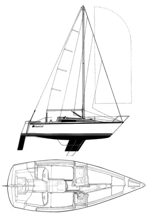 FIRST 22 (BENETEAU) drawing