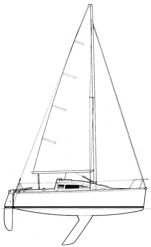 First 235 SK drawing on sailboatdata.com