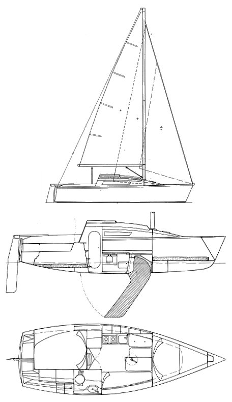 FIRST 24 (BENETEAU) drawing
