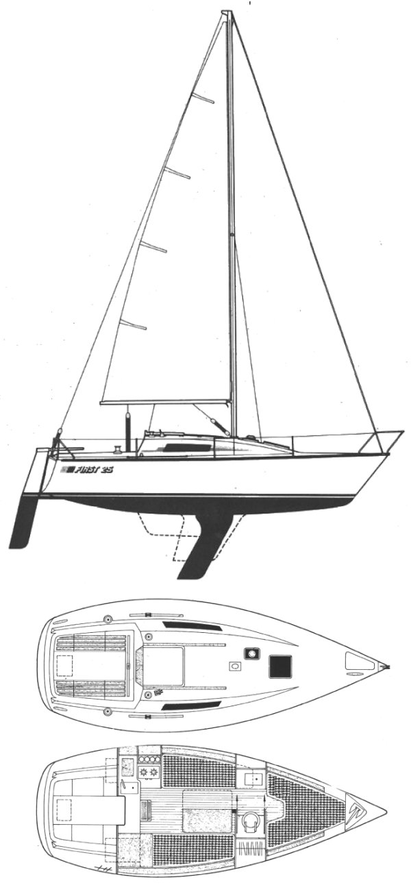 FIRST 25 (BENETEAU) drawing