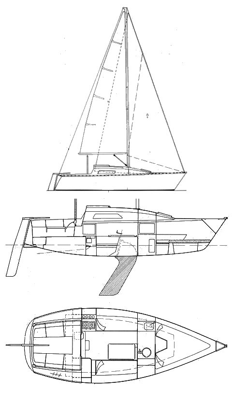 First 25 SK (Beneteau) drawing on sailboatdata.com