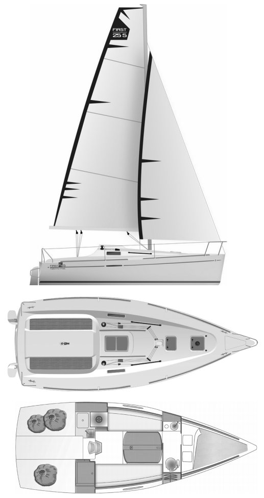 FIRST 25S (BENETEAU) drawing