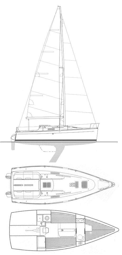 FIRST 260 SPIRIT (BENETEAU) drawing