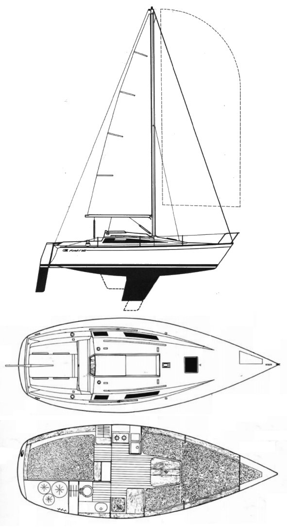 First 26 (Beneteau) drawing on sailboatdata.com