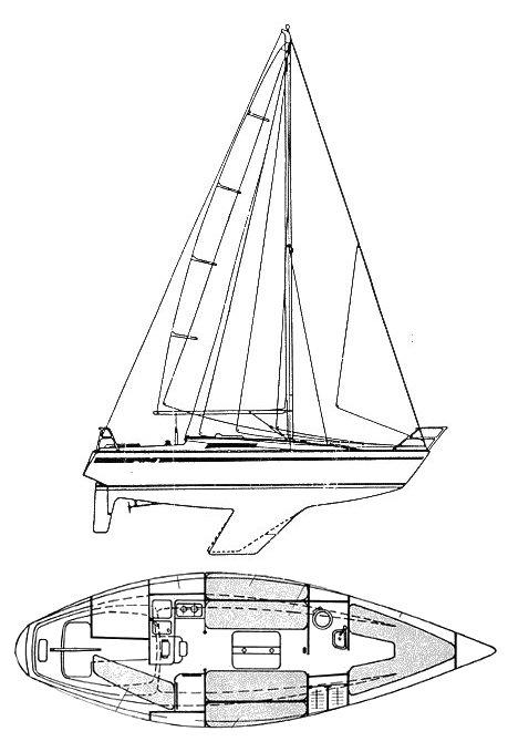 First 30 (Beneteau) drawing on sailboatdata.com