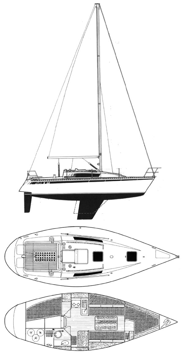 First 32 drawing on sailboatdata.com