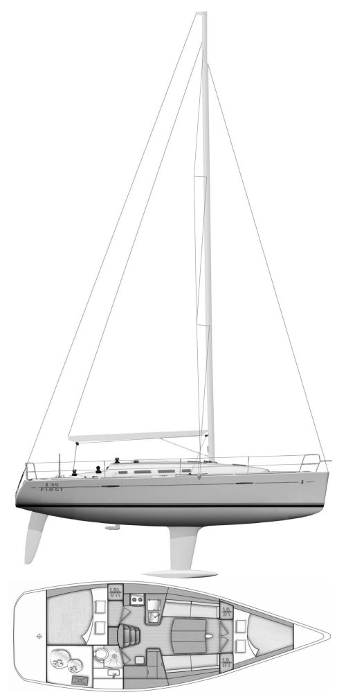 FIRST 35-2 (BENETEAU) drawing