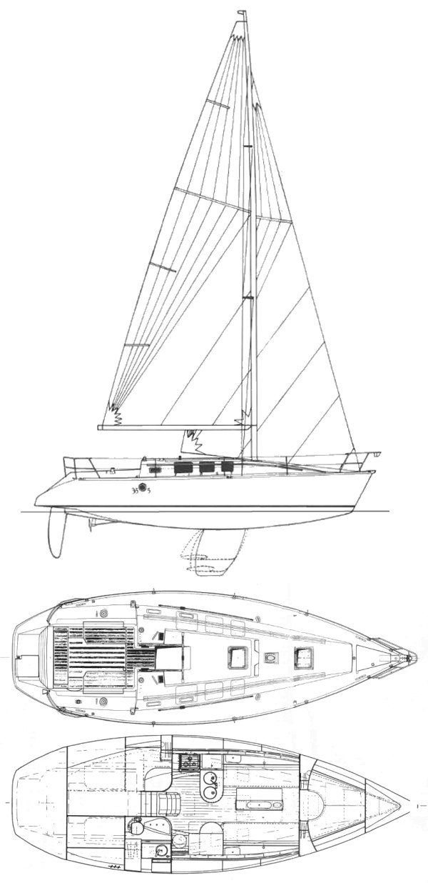 First 35S5 (Beneteau) drawing on sailboatdata.com