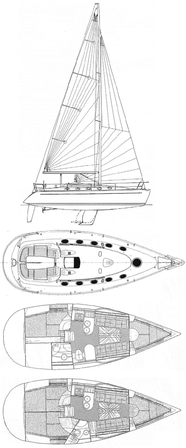 First 35s7 (Beneteau) drawing on sailboatdata.com